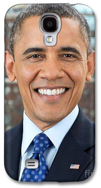 Barack Obama Galaxy S4 Cases - U.S. President Barack Obama  Galaxy S4 Case by MotionAge Designs