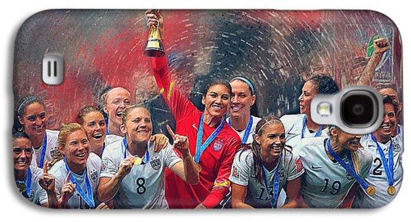 Us Women's Soccer Galaxy S4 Case by Semih Yurdabak