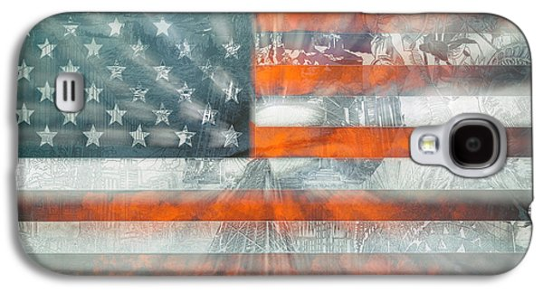 4th July Digital Galaxy S4 Cases - Usa flag 10 Galaxy S4 Case by MB Art factory