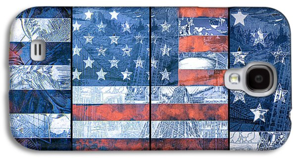 4th July Digital Galaxy S4 Cases - Usa flag 11 Galaxy S4 Case by MB Art factory