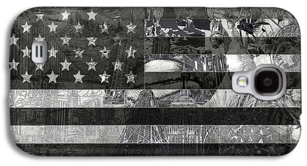 4th July Galaxy S4 Cases - Usa flag 4 Galaxy S4 Case by MB Art factory