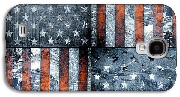 4th July Galaxy S4 Cases - Usa flag 7 Galaxy S4 Case by MB Art factory