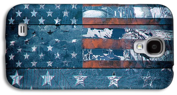 4th July Galaxy S4 Cases - Usa flag 8 Galaxy S4 Case by MB Art factory