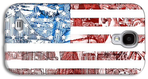 Usa Flag Galaxy S4 Case by Bekim Art