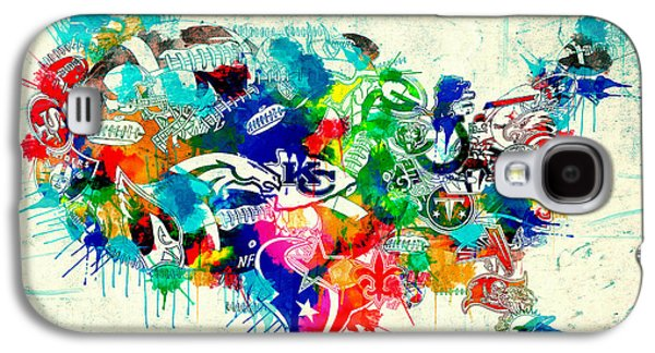 Usa Nfl Map Collage 5 Galaxy S4 Case by Bekim Art