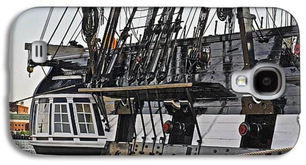 Captains Quarters Galaxy S4 Cases - Uss Constitution Bos120 Galaxy S4 Case by Howard Stapleton