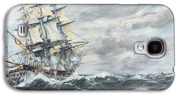Constitution Galaxy S4 Cases - USS Constitution heads for HM Frigate Guerriere Galaxy S4 Case by Vincent Alexander Booth