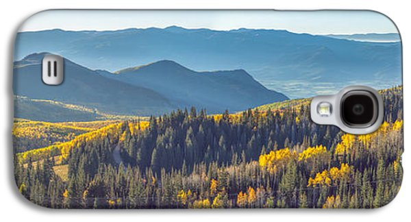 Autumn Foliage Galaxy S4 Cases - Utah Autumn Panorama Galaxy S4 Case by James Udall