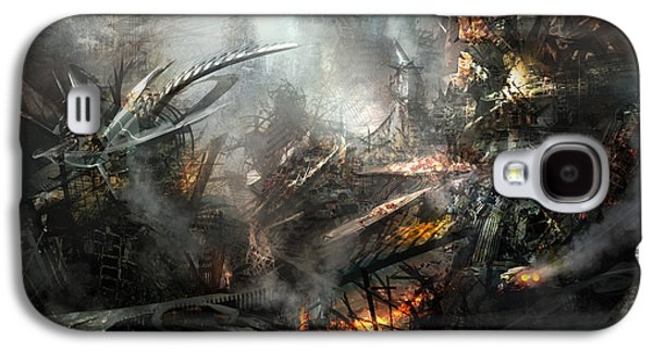 Science Fiction Mixed Media Galaxy S4 Cases - Utherworlds Ashes Galaxy S4 Case by Philip Straub