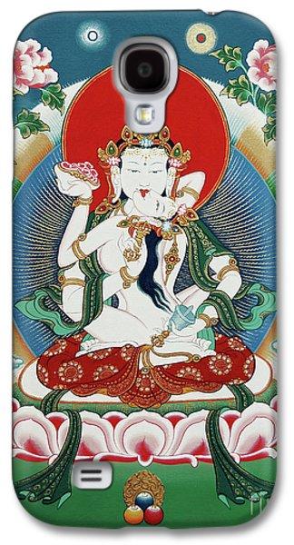 Buddhist Paintings Galaxy S4 Cases - Vajrasattva Yuganadha  Galaxy S4 Case by Sergey Noskov