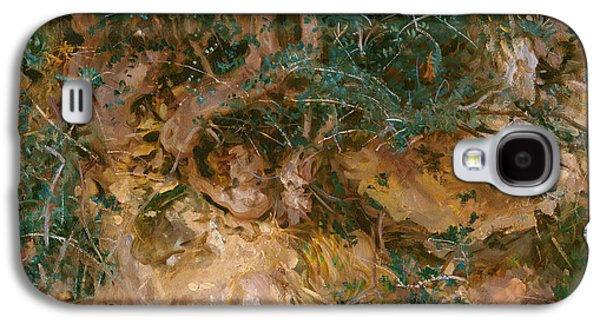 Valdemosa - Majorca - Thistles And Herbage On A Hillside Galaxy S4 Case by John Singer Sargent