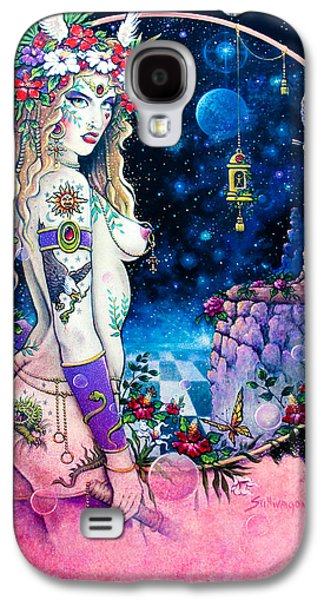 Wicca Paintings Galaxy S4 Cases - Valkyrie Galaxy S4 Case by Keith Stillwagon