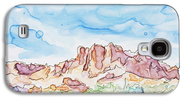 Valley Of Fire Galaxy S4 Case by Shaina Stinard