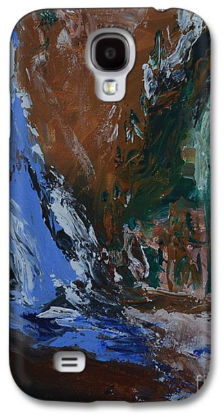 Abstract Landscape Galaxy S4 Cases - Valley Of The Pines  Galaxy S4 Case by Lisa  Telquist