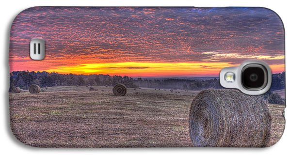 Pastureland Galaxy S4 Cases - Valley Sunrise Walker Church Road Galaxy S4 Case by Reid Callaway