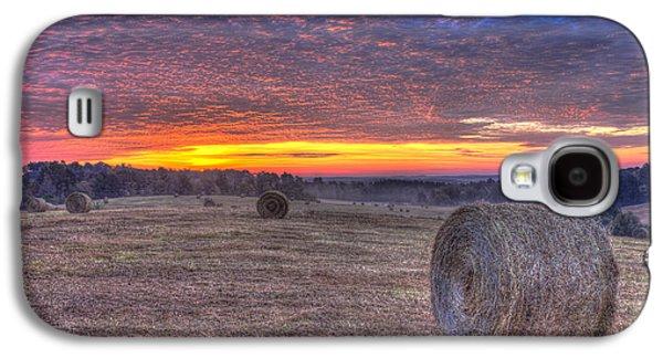 Hayfield Galaxy S4 Cases - Valley Sunrise Walker Church Road Galaxy S4 Case by Reid Callaway