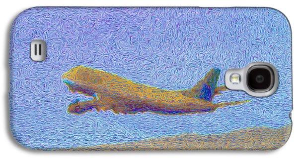 Sky Van Gogh Far Airlines Galaxy S4 Case by Wernher Krutein