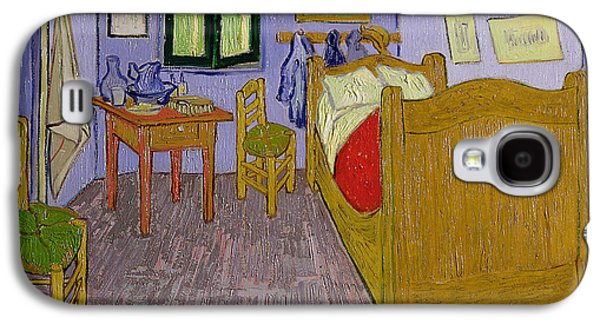 Chair Galaxy S4 Cases - Van Goghs Bedroom at Arles Galaxy S4 Case by Vincent Van Gogh