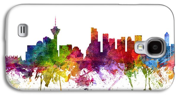Skylines Drawings Galaxy S4 Cases - Vancouver Canada Cityscape 06 Galaxy S4 Case by Aged Pixel