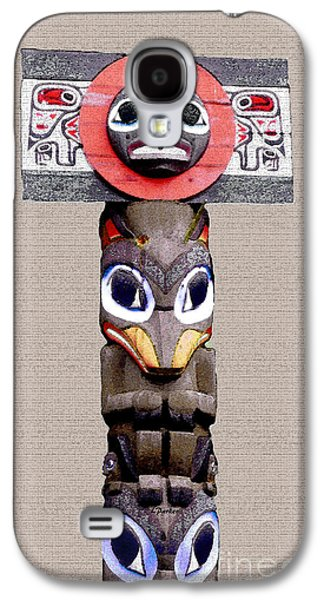 Vancouver Totem - 3 Galaxy S4 Case by Linda  Parker