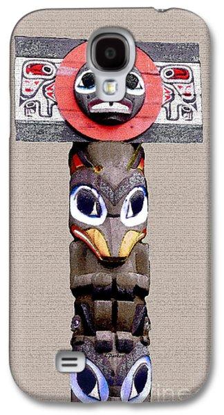 Statue Portrait Galaxy S4 Cases - Vancouver Totem - 3 Galaxy S4 Case by Linda  Parker