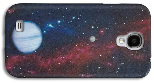 Interplanetary Space Paintings Galaxy S4 Cases - Vandor Galaxy S4 Case by Wally Jones