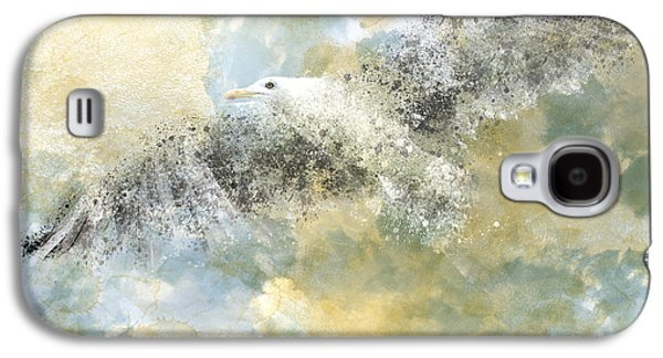 Abstract Movement Galaxy S4 Cases - Vanishing Seagull Galaxy S4 Case by Melanie Viola