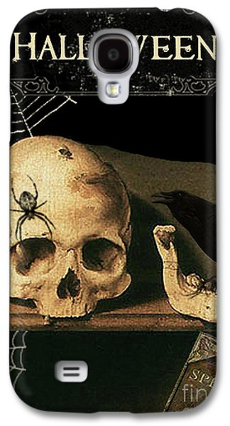 Vanitas Skull And Raven Galaxy S4 Case by Striped Stockings Studio