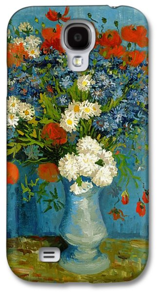 Vincent Van Gogh Galaxy S4 Cases - Vase With Cornflowers And Poppies Galaxy S4 Case by Van Gogh