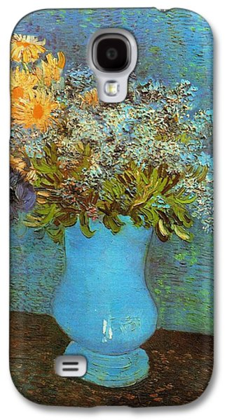 Vase With Flowers Galaxy S4 Case by Van Gogh