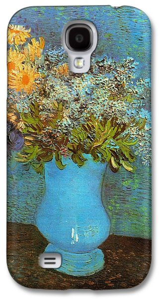 Vincent Van Gogh Galaxy S4 Cases - Vase With Flowers Galaxy S4 Case by Van Gogh