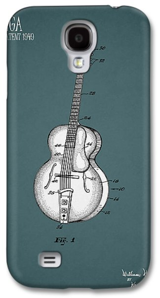 Music Photographs Galaxy S4 Cases - Vega Guitar Patent 1949 Galaxy S4 Case by Mark Rogan