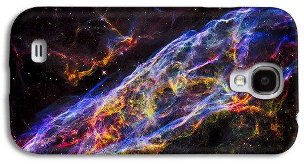 Veil Nebula - Rainbow Supernova  Galaxy S4 Case by The Vault - Jennifer Rondinelli Reilly