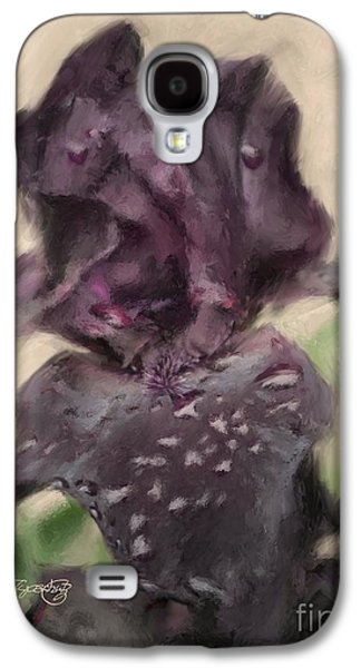 Botanical Galaxy S4 Cases - Velvet Iris Galaxy S4 Case by Susan  Lipschutz