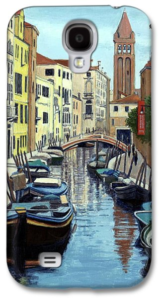 Venice Canal And Old Bell Tower Galaxy S4 Case by Janet King