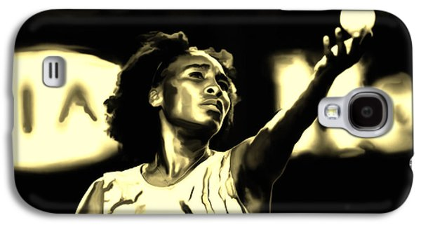 French Open Mixed Media Galaxy S4 Cases - Venus Williams Match Point Galaxy S4 Case by Brian Reaves