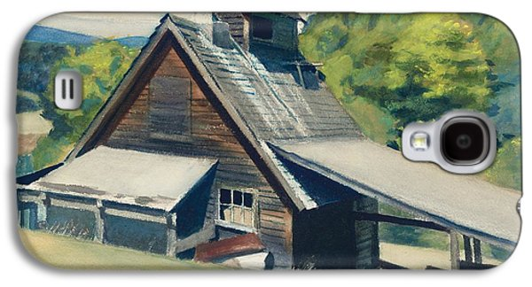 Watercolor Paintings Galaxy S4 Cases - Vermont Sugar House Galaxy S4 Case by Edward Hopper