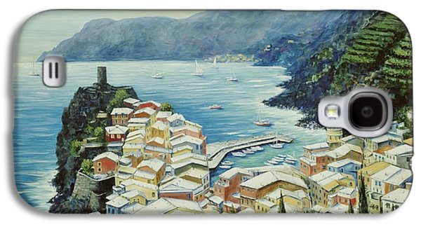 Harbor Paintings Galaxy S4 Cases - Vernazza Cinque Terre Italy Galaxy S4 Case by Marilyn Dunlap