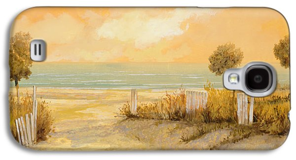 Seaside Galaxy S4 Cases - Verso La Spiaggia Galaxy S4 Case by Guido Borelli