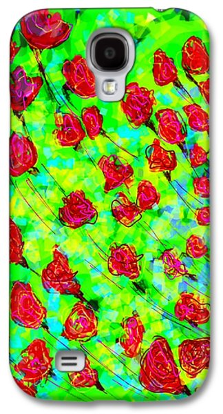Abstract Digital Digital Galaxy S4 Cases - Very bright Galaxy S4 Case by Khushboo N