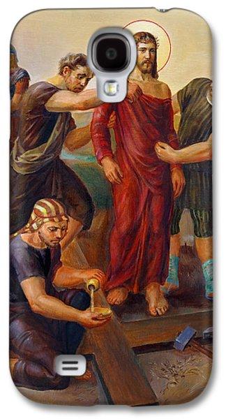 Religious Galaxy S4 Cases - Via Dolorosa - Disrobing of Christ - 10 Galaxy S4 Case by Svitozar Nenyuk