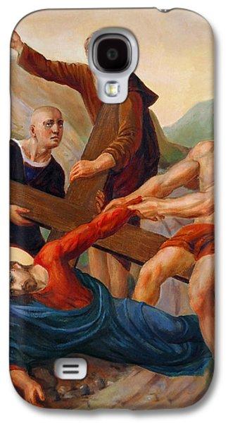 Jesus Christ Icon Galaxy S4 Cases - Via Dolorosa - Way Of The Cross - 9 Galaxy S4 Case by Svitozar Nenyuk