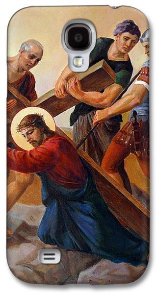Jesus Christ Icon Galaxy S4 Cases - Via Dolorosa - Stations Of The Cross - 3 Galaxy S4 Case by Svitozar Nenyuk