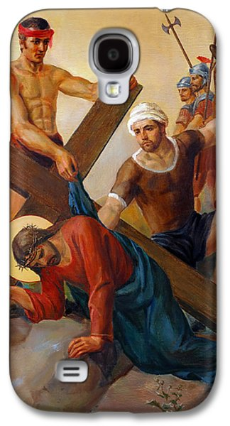 Via Dolorosa - The Second Fall Of Jesus - 7 Galaxy S4 Case by Svitozar Nenyuk