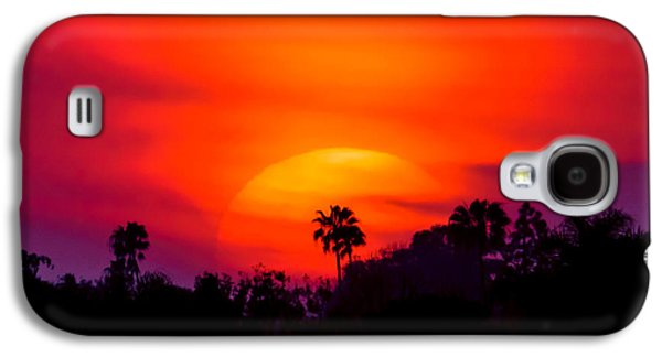 Landscapes Photographs Galaxy S4 Cases - Vibrant Spring Sunset Galaxy S4 Case by Pamela Newcomb