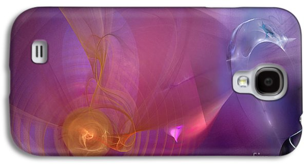 Abstract Digital Photographs Galaxy S4 Cases - Vibrations Collide Galaxy S4 Case by Linda Troski