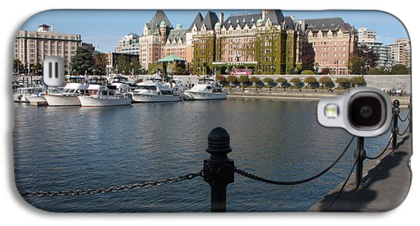Boats In Harbor Galaxy S4 Cases - Victoria Harbour with Railing Galaxy S4 Case by Carol Groenen