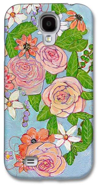 Victoria Rose Flowers Galaxy S4 Case by Blenda Studio