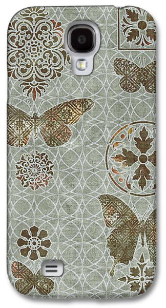 Quilt Galaxy S4 Cases - Victorian Deco Sage Galaxy S4 Case by JQ Licensing
