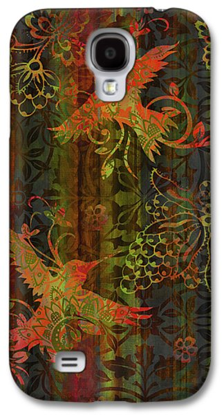 Quilt Galaxy S4 Cases - Victorian Humming Bird 3 Galaxy S4 Case by JQ Licensing